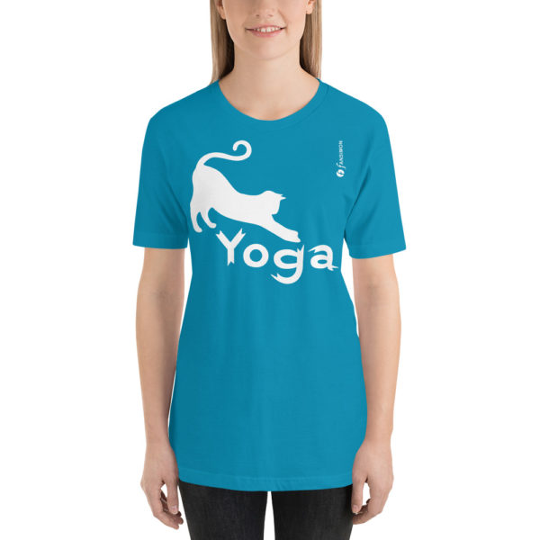 Cat Yoga - Short-Sleeve Unisex T-Shirt - Design by fANSIMON