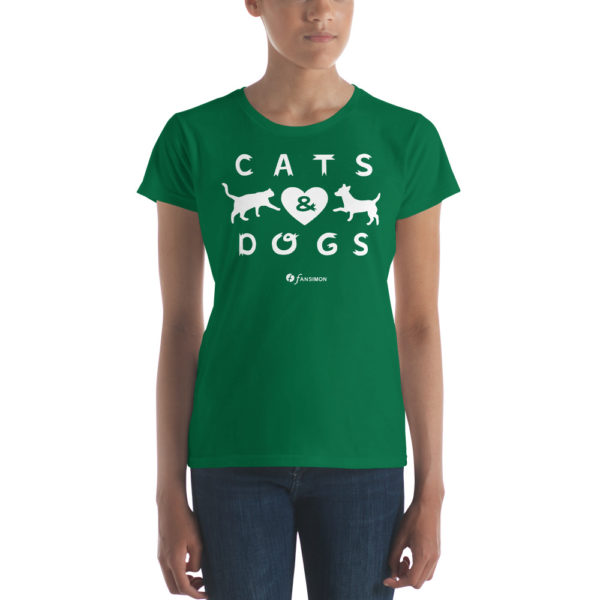 Cats And Dogs - Women's short sleeve t-shirt - Design by fANSIMON
