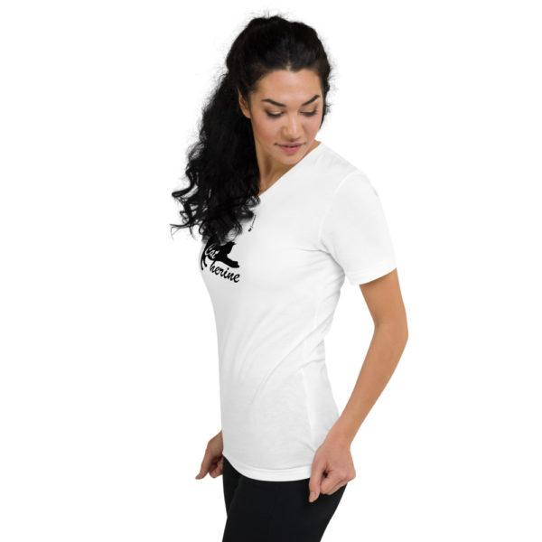 Cat Catherine - Unisex Short Sleeve V-Neck T-Shirt - Design by fANSIMON