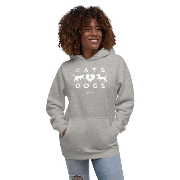 Cats and Dogs - Unisex Hoodie - Design by fANSIMON