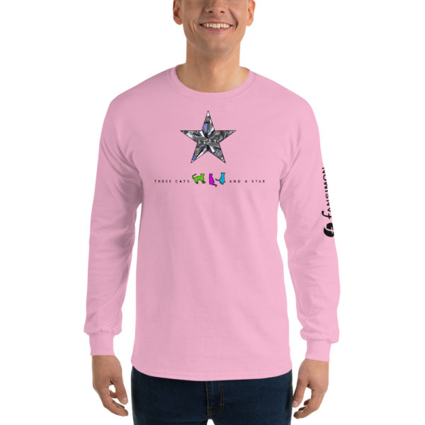 Three cats and a star - Men's Long Sleeve Shirt - Design by fANSIMON