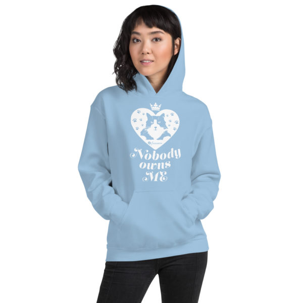 Nobody owns a cat - Unisex Hoodie - Design by fANSIMON