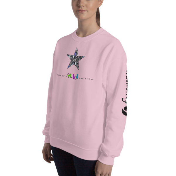 Three cats and a star - Unisex Sweatshirt - v2 - Design by fANSIMON