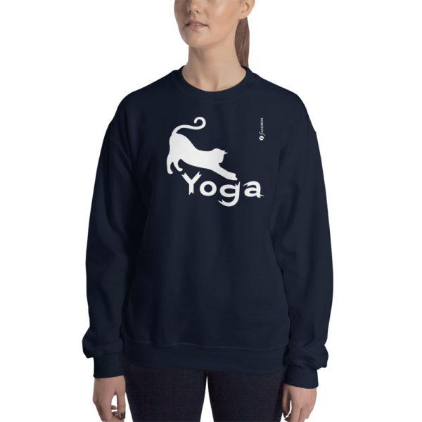 Cat Yoga - Unisex Sweatshirt - Design by fANSIMON