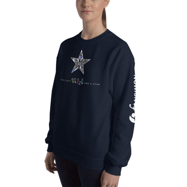 Three cats and a star - Unisex Sweatshirt - Design by fANSIMON