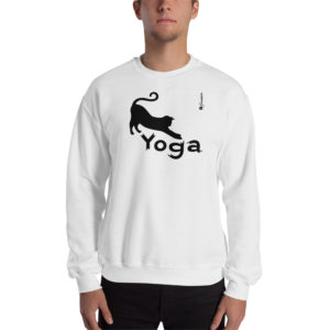 Cat Yoga - Unisex Sweatshirt - Design by fANSIMON