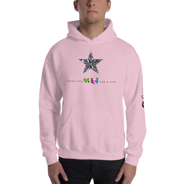Three cats and a star - v2 - Unisex Hoodie - Design by fANSIMON