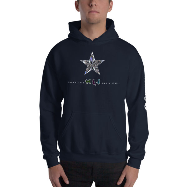 Three cats and a star - Unisex Hoodie - Design by fANSIMON