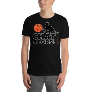Basketball chat alors - Short-Sleeve Unisex T-Shirt - Design by fANSIMON