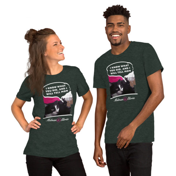 I Know what you did, and I will tell mom - Short-Sleeve Unisex T-Shirt - Design by fANSIMON