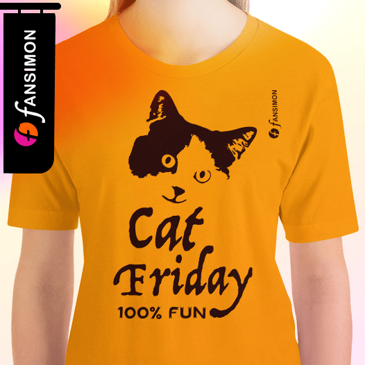 T-shirt for sell online- It's Friday again! Cat Friday for pet lovers. Guarantee 100% Fun